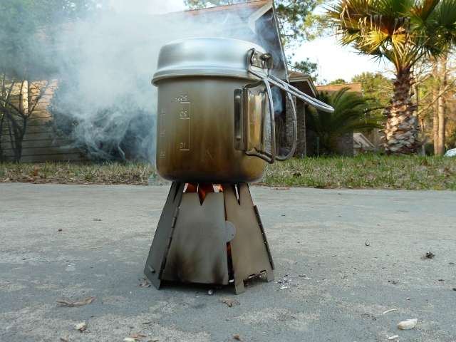Hex Stove Burning